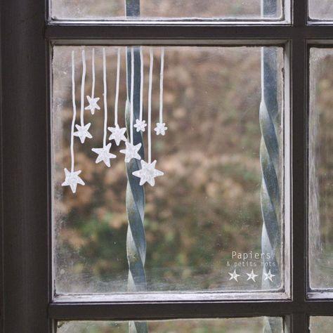 wunderschöne Fensterdeko Vogelpaar Fensterbild Gardine Fensterhänger filigran 20