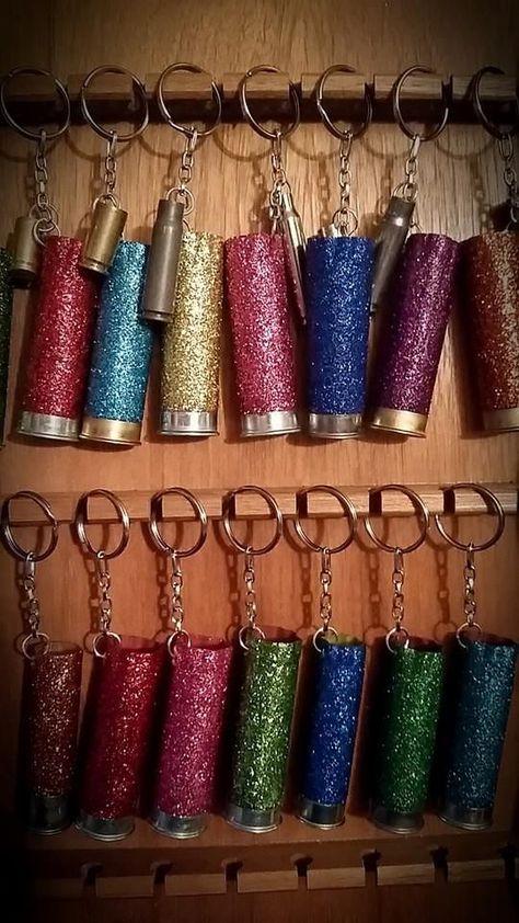 Bullets & Bling Shotgun Shell Sparkle Keychains -Cute! www.brandingirontradingco.com www.facebook.com/brandingirontrading
