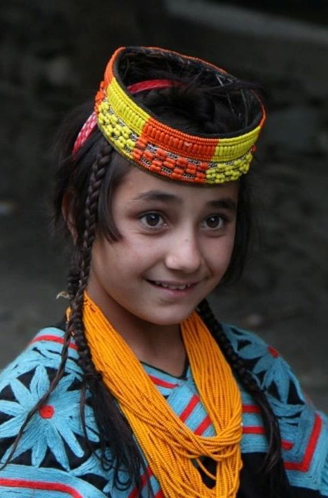 A girl in Kalash ethnic dress  Rumbur valley, Khyber