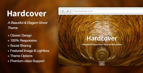 Hardcover: A Beautiful and Elegant Ghost Theme