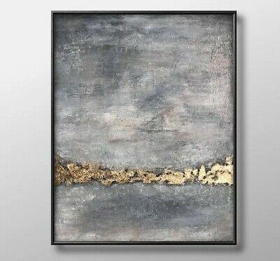 original acryl bild gold grau handgemalt kunst modern unikat ohne rahmen ebay abstrakte für anfänger bilder lila abstrakt