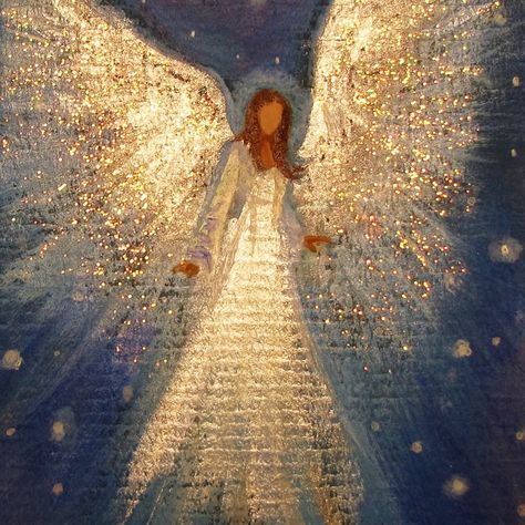 Original Acrylic paintings, Prints, and Angel Art by BrydenArt : Browse unique items from BrydenArt on Etsy, a global marketplace of handmade, vintage and creative goods. Christmas Angels, Christmas Art, Christmas Presents, Christmas Wreaths, Angel Artwork, Angel Paintings, Angel Wings Painting, Original Paintings, Angel Drawing