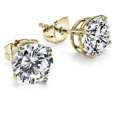 Ad Ebay Link 3 650 Solitaire Diamond Earrings 1 00 Carat Ctw Yellow Gold Stud In 2020 Diamond Solitaire Earrings Rose Gold Diamond Studs Diamond Earrings For Women