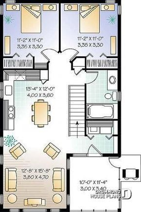 Discover The Plan 2933 The Murphy Which Will Please You For Its 2 Bedrooms And For Its Cottage Chalet Cabin Styles Garage Apartment Floor Plans House Plans Garage Apartment Plans