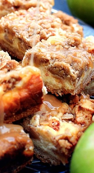 Apple Pie Cheesecake Bars Recipe | The Baked Been