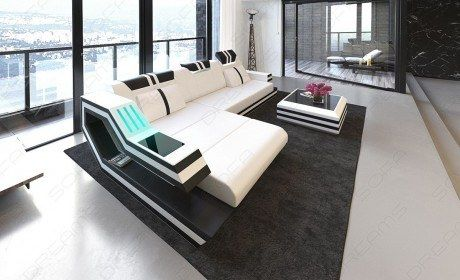 Luxury Sectional Sofa Hollywood L Shape With Led And Usb Luxury Sectional Sofa Hollywood L Shape W Leather Sectional Sofas Sofa Design Living Room Sofa Design