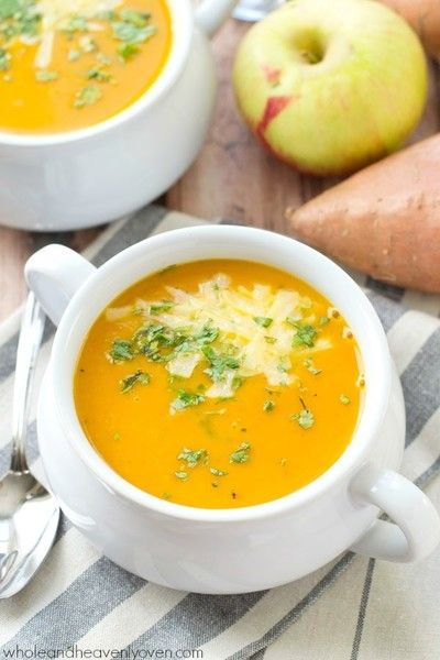 Try Cream Of Sweet Potato Apple Soup - Vitamix Recipes That Aren't Smoothies - Photos
