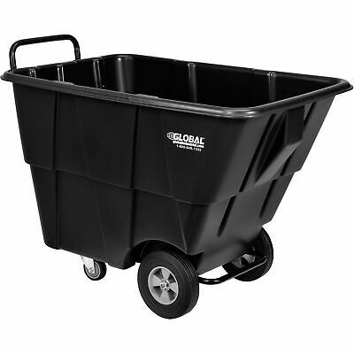 Ad Ebay 1 2 Cubic Yard Capacity Plastic Tilt Truck 750 Lb Capacity Black In 2020 Trash Bag Tilt Material Handling