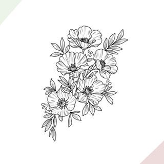Botanical Ladies This Is One Of My Big Flashes I M Eager To Work With More Larger Pieces Full Of Meaning Like Alw Tattoos Lotus Flower Tattoo Flower Outline