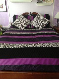 Seventeen Purple Zebra Print Comforter Set Queen Similar To