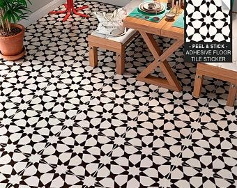 Granada Black Sheet Vinyl Flooring 2 Metre Wide Roll Etsy In 2020 Tile Decals Vinyl Flooring Tile Floor