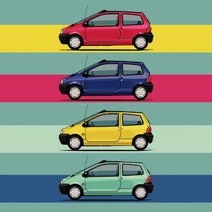 Renault Twingo 90s Colors Quartet 90s Colors Vintage Ads Car