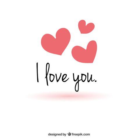 Minimalist love message Free Vector | Free Vector #Freepik #freevector #heart #love #valentine #message