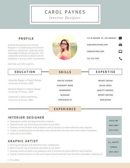 Gray And Flesh Simple Design Resume Templates By Canva Resume