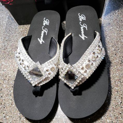 Be Trendy Rhinestone Flip-Flop