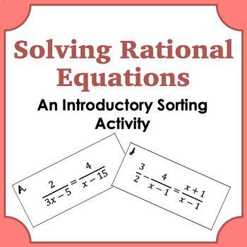 Pin On Algebra 2 Solving rational equations worksheet