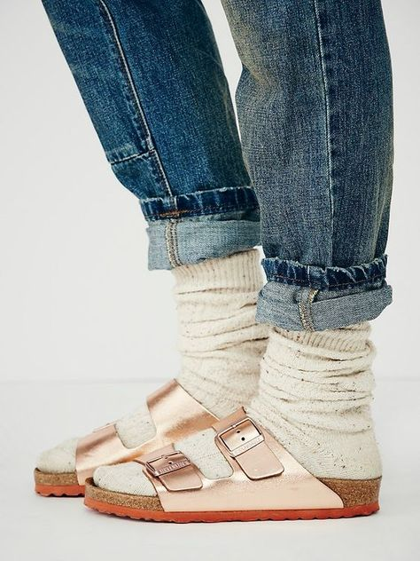 calidad estable comprar bien de calidad superior Birkenstock Arizona Metallic at Free People Clothing ...