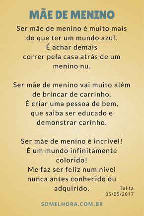 Mae De Menino Um Mundo Muito Alem Do Azul Poesia Frases Ser