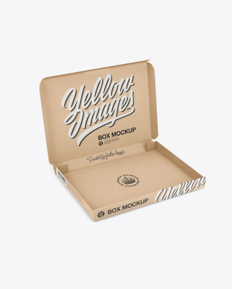 Download Opened Kraft Box Mockup Half Side View High Angle Shot In Box Mockups On Yellow Images Object Mockups Mockup Free Psd Free Psd Mockups Templates Box Mockup