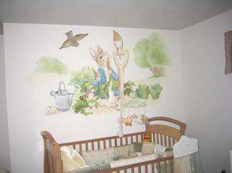Peter Rabbit Nursery Mural Hand Painted Murals By