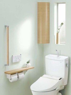 トイレ収納はこう作る 達人リフォームのアイデア トイレのアイデア トイレ おしゃれ トイレのデザイン