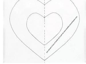 Coloriage Coeur Chocolat.Gabarit Coeur A Imprimer Patisserie Gateau Coeur A