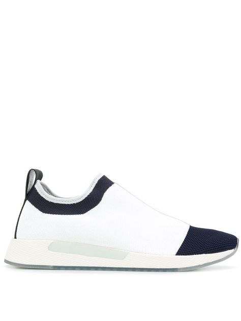 3b53527a33a042 TOMMY HILFIGER TOMMY HILFIGER COLOUR BLOCK SLIP-ON SNEAKERS - WHITE.   tommyhilfiger