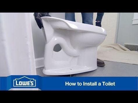Replace A Toilet Toilet Installation Toilet New Toilet