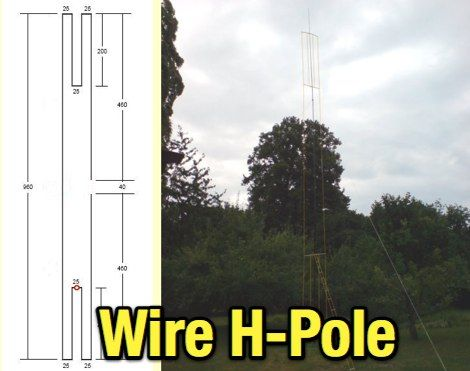 The H Pole Is A Vertical Multiband Wire Antenna For 160 10 Meters Bands This Resource Is Listed Under Antennas Multiband Antennas Antenna Radio Antenna