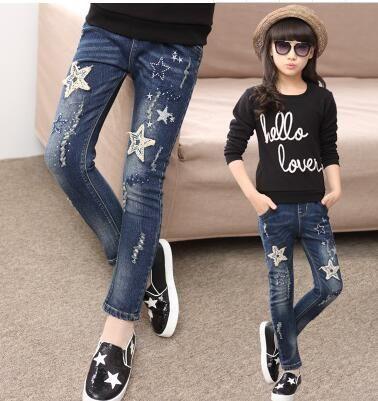 Tienda Online 2019 De Los Ninos De Otono Ropa Ninas Jeans Casual Slim Thin Denim Bebe Nina Pantalones Para Ninas Grandes Ni Ropa Vaqueros Pitillo Ropa De Otono