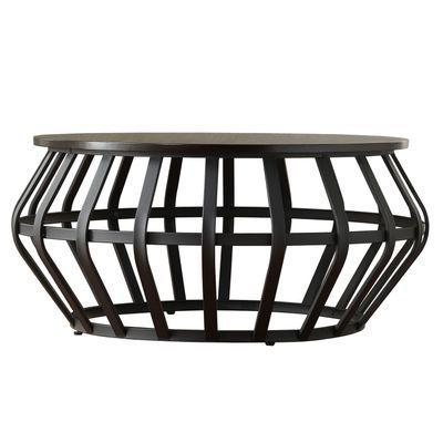Metal Frame Round Coffee Table | Metal coffee table, Coffee