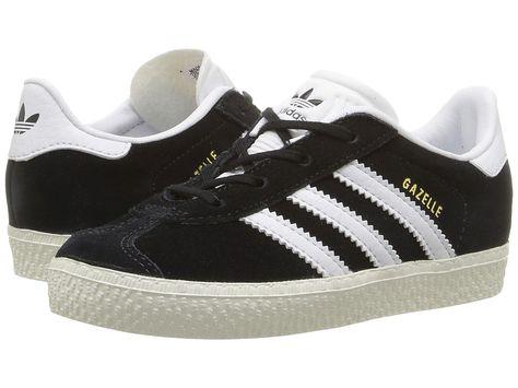 adidas Originals Kids Gazelle (Toddler) Kids Shoes Black White Gold ... e8931b9ed