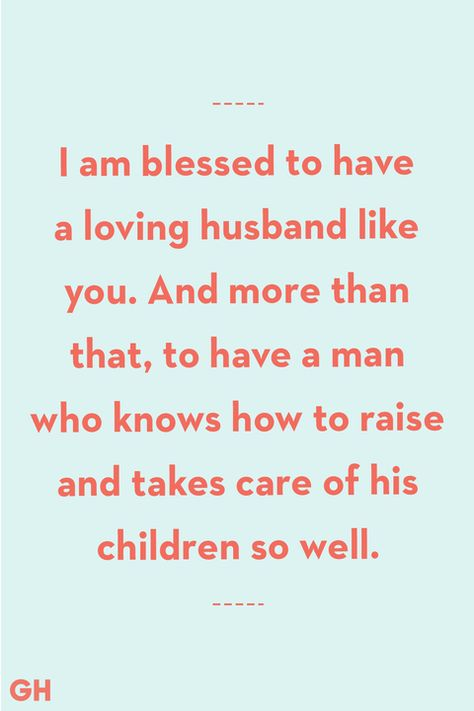 Father's Day Quotes From Wife Blessed Loving Husband