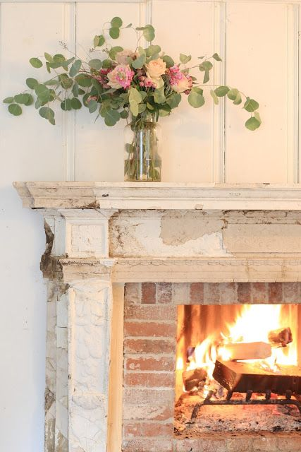 Antique Fireplace Before After French Country Rug Country