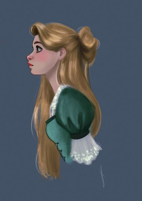 Rapunzel fanart I did I while ago 😊