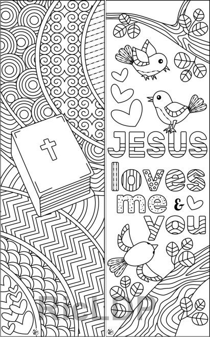 8 Easter Coloring Bookmarks | Bookmarks | Easter colouring ...
