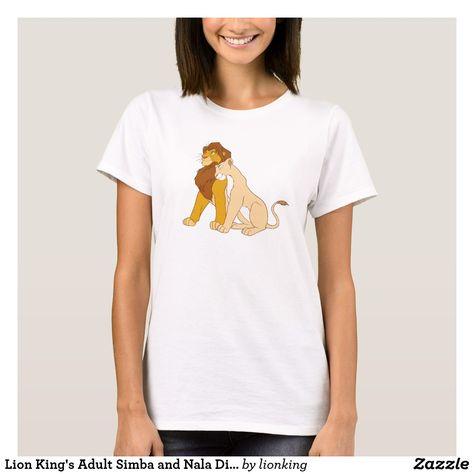 Lion King s Adult Simba and Nala Disney T-Shirt in 2018  2cfbbfac03