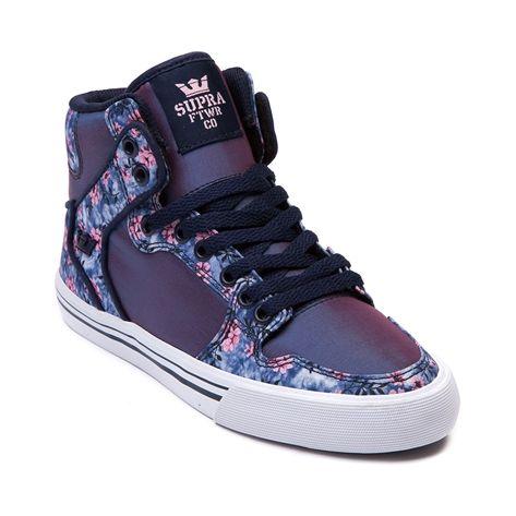f1f40799ae19 Supra Kids Vaider Charcoal Nubuck Skate Shoes