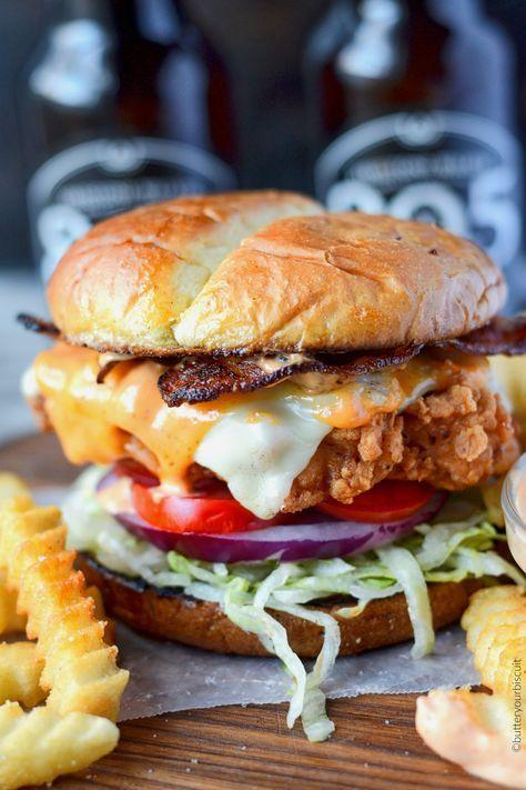 Spicy Buttermilk Fried Chicken Sandwich Recipe Fried Chicken Sandwich Chicken Sandwich Recipes Chicken Sandwich