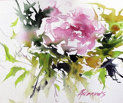 Pink Glow Artwork Watercolor Flowers Abstract Flowers