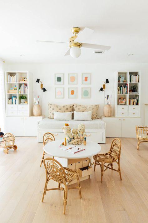 Playroom Furniture, Built In Furniture, Playroom Decor, Kids Furniture, Kids Playroom Storage, Playroom Ideas, Toddler Playroom, Toddler Chair, Kid Decor