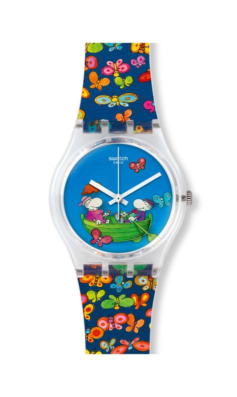PLANET LOVE Swatch Designed by the legendary Argentinian cartoonist, Guillermo Mordillo