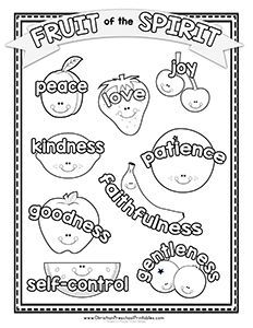 Free Printable Resources Games And Crafts You Can Use To Teach Children Coloring Pages Of The Fruit Spirit