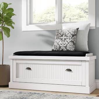 Beachcrest Home Lexie Cabinet Storage Bench Reviews Wayfair In 2020 Hall Bench With Storage Bench With Storage Wood Storage Bench
