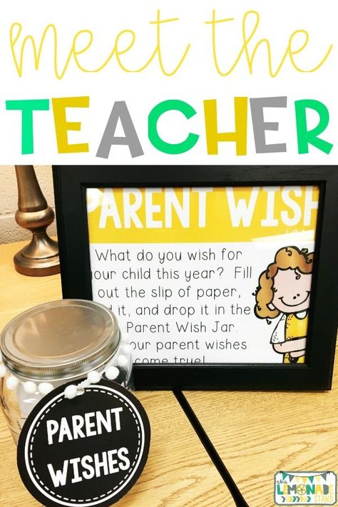 This parent wish jar is PERFECT for your parent meeting, open house, or meet the teacher night. Head to the blog to download this back to school FREEBIE!