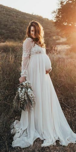 24 Maternity Wedding Dresses For Moms To Be Wedding Forward Pregnant Wedding Dress Mom Wedding Dress Wedding Dresses Pregnant Brides