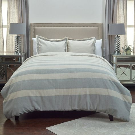 JHaus Rock Duvet Cover by Rizzy Home - DFSBT4228KIGY82SQ