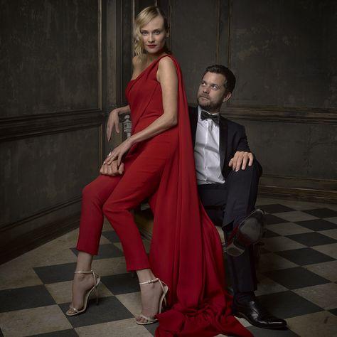 Diane Kruger & Joshua Jackson at the Vanity Fair Oscar Party