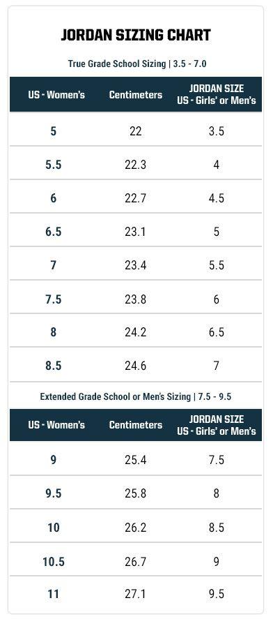 Jordan Size Chart Conversion In 2020 Nike Shoes Size Chart Jordan Boys Belts Size Chart