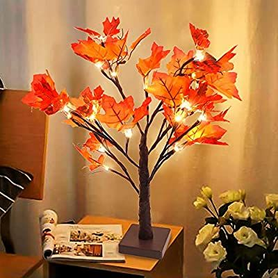 Amazon Com Whonline Thanksgiving Table Decorations Lighted Maple Centerpiece Fall De Thanksgiving Table Centerpiece Thanksgiving Table Decorations Fall Decor